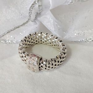 Italian made Sterling silver and cubic zirconia